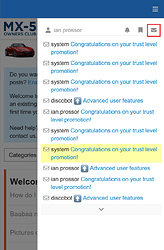 Mobile Message List Button