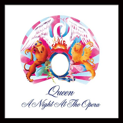 Queen+'A+Night+at+the+Opera'+Album+Cover+Framed+Wall+art
