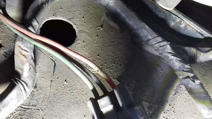 Nearside grommet hole assumed