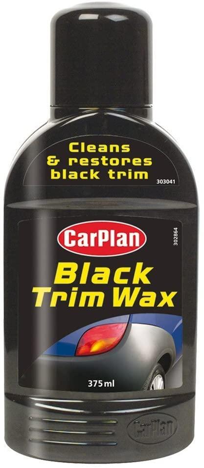 car plan black trim wax